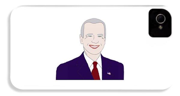 Joe Biden IPhone 4s Case by Priscilla Wolfe