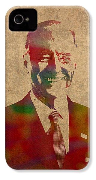 Joe Biden Watercolor Portrait IPhone 4s Case by Design Turnpike