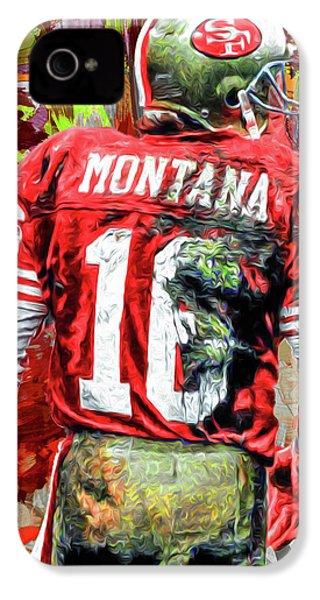 Joe Montana Football Digital Fantasy Painting San Francisco 49ers IPhone 4s Case by David Haskett