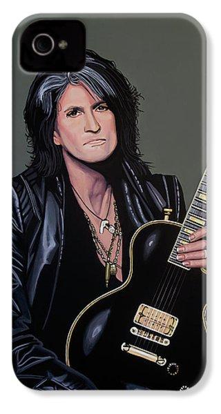 Joe Perry Of Aerosmith Painting IPhone 4s Case by Paul Meijering