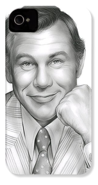 Johnny Carson IPhone 4s Case by Greg Joens