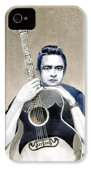Johnny Cash IPhone 4s Case by Yuriy  Shevchuk