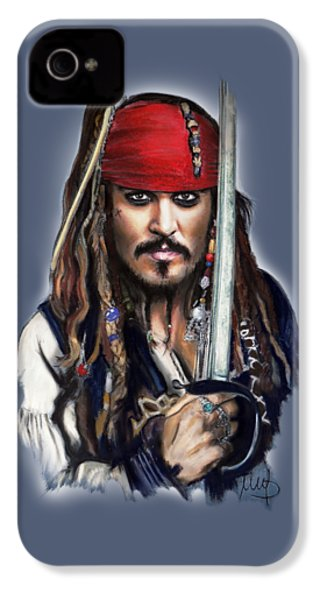 Johnny Depp As Jack Sparrow IPhone 4s Case