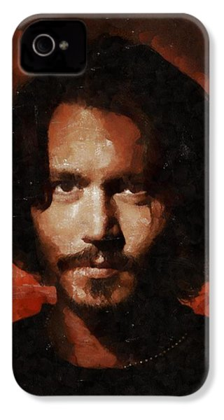 Johnny Depp, Hollywood Legend By Mary Bassett IPhone 4s Case by Mary Bassett