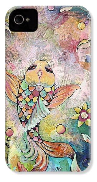 Joyful Koi I IPhone 4s Case by Shadia Derbyshire