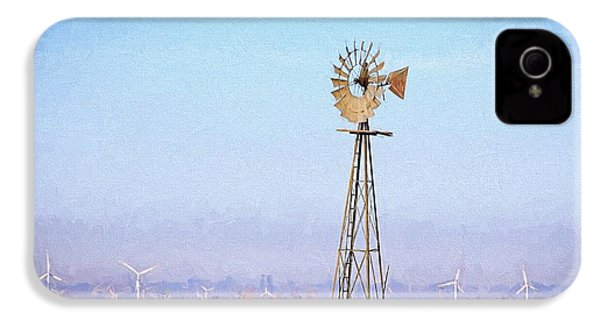 IPhone 4s Case featuring the digital art Kansas Windmills by JC Findley