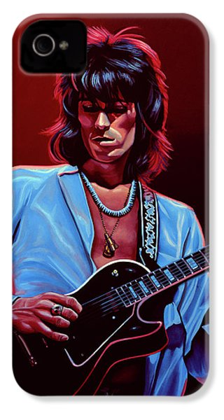 Keith Richards The Riffmaster IPhone 4s Case by Paul Meijering