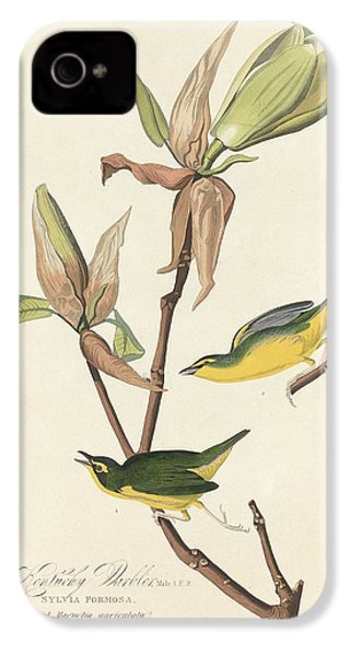Kentucky Warbler IPhone 4s Case by Dreyer Wildlife Print Collections