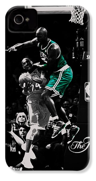 Kevin Garnett Not In Here IPhone 4s Case by Brian Reaves