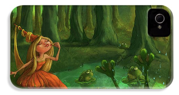Kissing Frogs IPhone 4s Case by Andy Catling