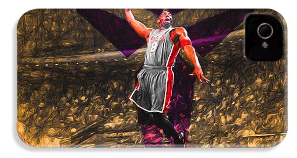 Kobe Bryant Black Mamba Digital Painting IPhone 4s Case by David Haskett