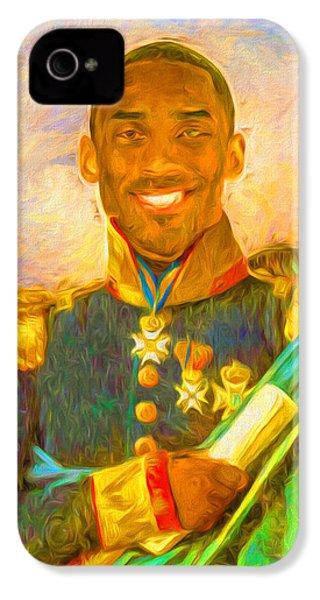 Kobe Bryant Floor General Digital Painting La Lakers IPhone 4s Case by David Haskett