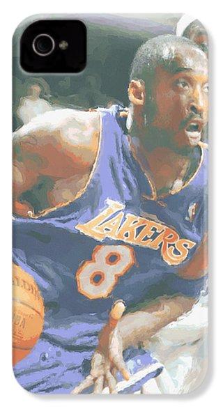 Kobe Bryant Lebron James IPhone 4s Case by Joe Hamilton