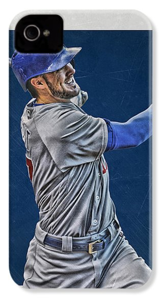 Kris Bryant Chicago Cubs Art 3 IPhone 4s Case
