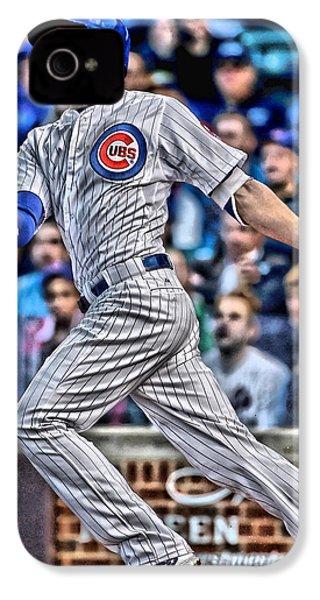 Kris Bryant Chicago Cubs IPhone 4s Case by Joe Hamilton