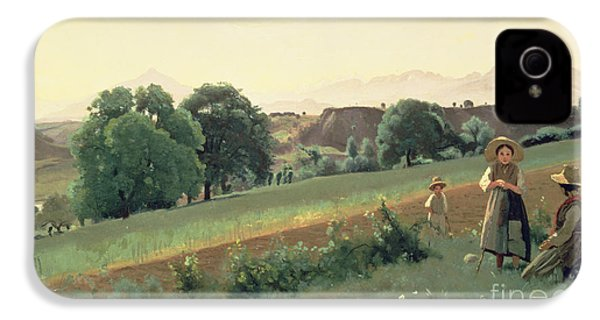 Landscape At Mornex IPhone 4s Case by Jean Baptiste Corot