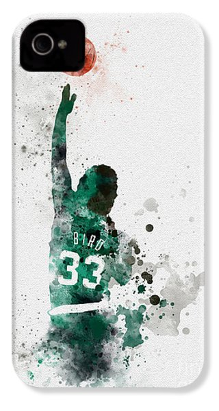 Larry Bird IPhone 4s Case by Rebecca Jenkins