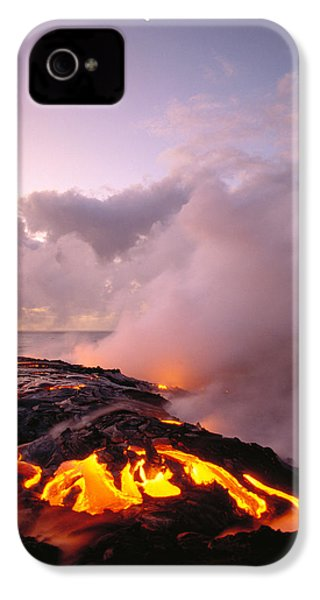 Lava Flows At Sunrise IPhone 4s Case by Peter French - Printscapes