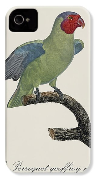 Le Perroquet Geoffroy Male / Red Cheeked Parrot - Restored 19th C. By Barraband IPhone 4s Case by Jose Elias - Sofia Pereira