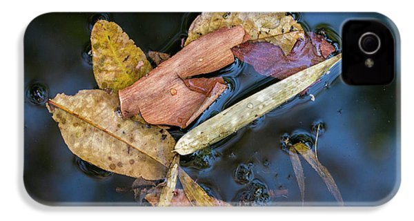 IPhone 4s Case featuring the photograph Leaf Litter In Pond, Navegaon, 2011 by Hitendra SINKAR