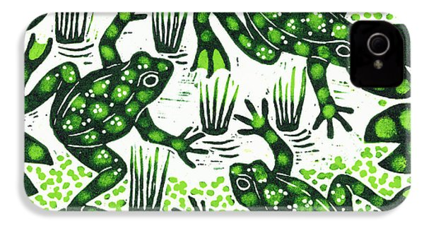 Leaping Frogs IPhone 4s Case by Nat Morley
