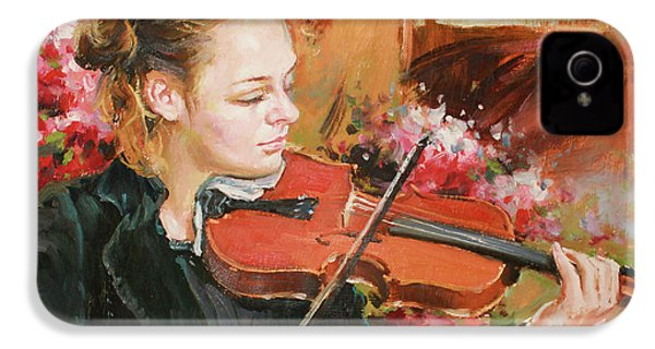 Learning The Violin IPhone 4s Case by Conor McGuire