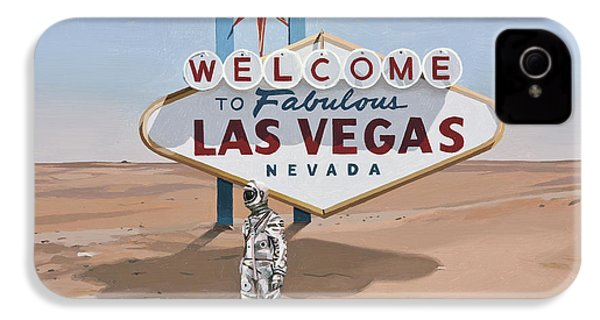 IPhone 4s Case featuring the painting Leaving Las Vegas by Scott Listfield