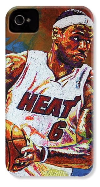 Lebron James 3 IPhone 4s Case by Maria Arango