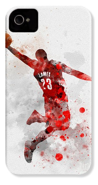 Lebron James IPhone 4s Case by Rebecca Jenkins