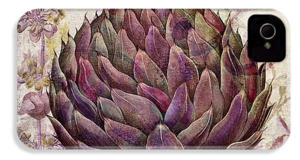 Legumes Francais Artichoke IPhone 4s Case by Mindy Sommers