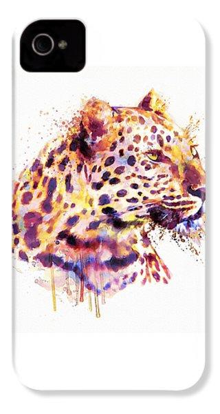 Leopard Head IPhone 4s Case by Marian Voicu