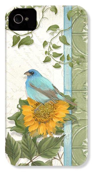 Les Magnifiques Fleurs Iv - Secret Garden IPhone 4s Case by Audrey Jeanne Roberts