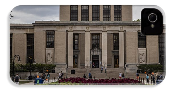Library At Penn State University  IPhone 4s Case by John McGraw