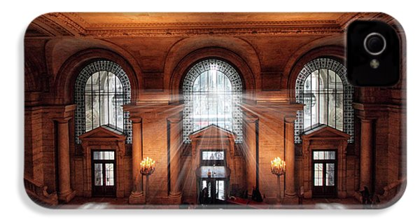 IPhone 4s Case featuring the photograph Library Entrance by Jessica Jenney