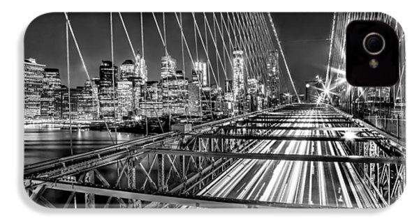 Light Trails Of Manhattan IPhone 4s Case by Az Jackson