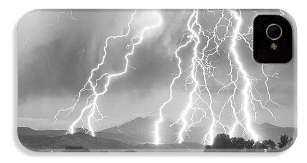 Lightning Striking Longs Peak Foothills 4cbw IPhone 4s Case