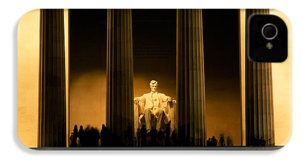 Lincoln Memorial Illuminated At Night IPhone 4s Case by Panoramic Images