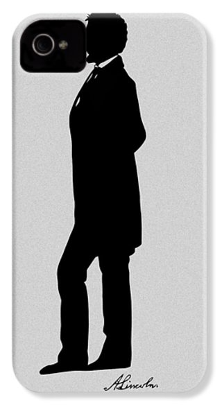Lincoln Silhouette And Signature IPhone 4s Case by War Is Hell Store