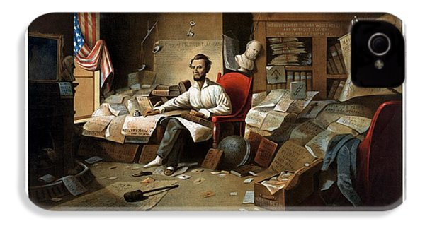 Lincoln Writing The Emancipation Proclamation IPhone 4s Case by War Is Hell Store