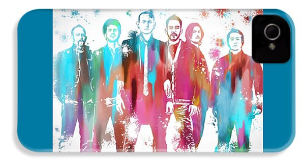 Linkin Park Watercolor Paint Splatter IPhone 4s Case by Dan Sproul
