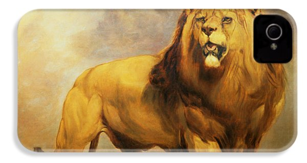 Lion  IPhone 4s Case by William Huggins