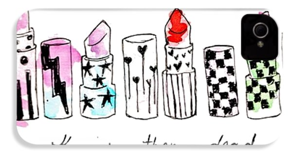 Lipstick Galore IPhone 4s Case by Elizabeth Taylor