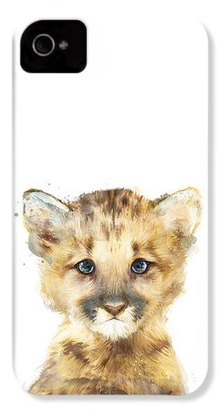 Little Mountain Lion IPhone 4s Case by Amy Hamilton