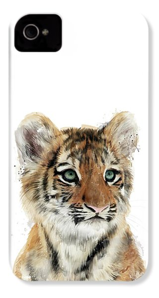Little Tiger IPhone 4s Case by Amy Hamilton