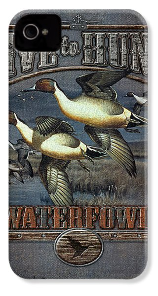Live To Hunt Pintails IPhone 4s Case by JQ Licensing