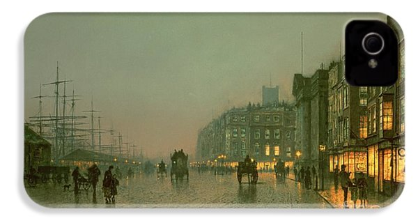 Liverpool Docks From Wapping IPhone 4s Case by John Atkinson Grimshaw