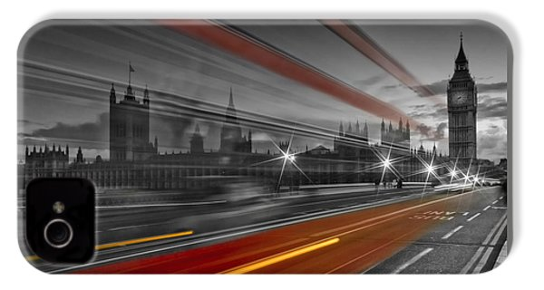 London Red Bus IPhone 4s Case by Melanie Viola