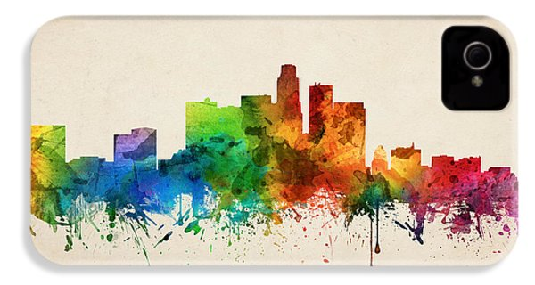 Los Angeles California Skyline 05 IPhone 4s Case by Aged Pixel