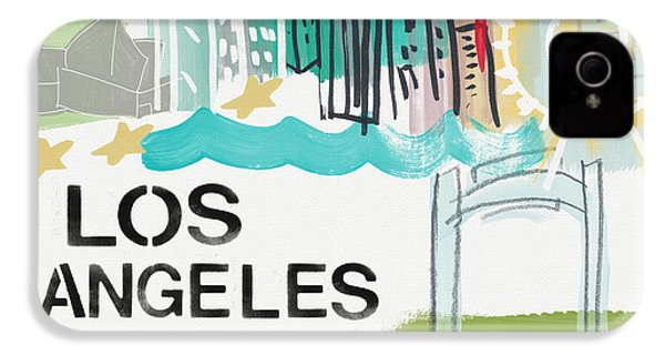 Los Angeles Cityscape- Art By Linda Woods IPhone 4s Case by Linda Woods
