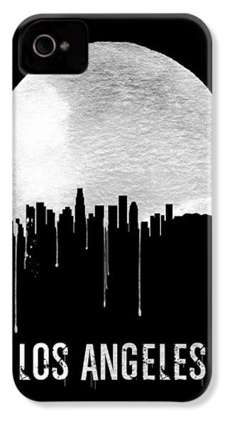Los Angeles Skyline Black IPhone 4s Case by Naxart Studio